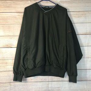 Cabelas green wind breaker bomber jacket Sz L